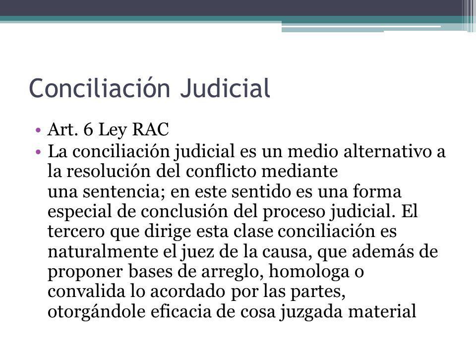Conciliación Judicial