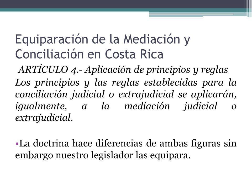 Equiparación de la Mediación y Conciliación en Costa Rica
