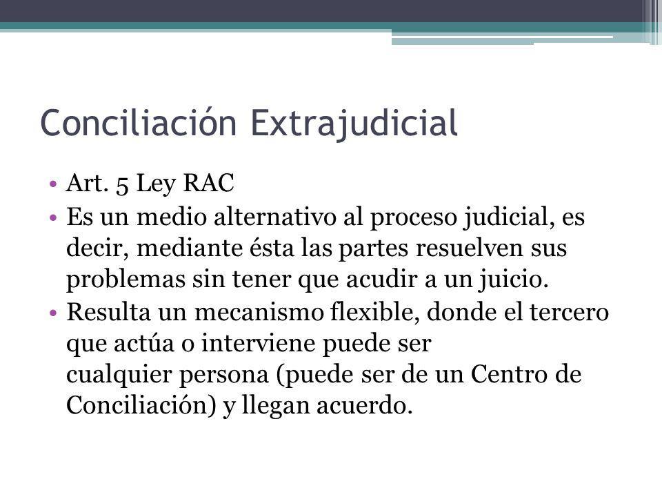 Conciliación Extrajudicial