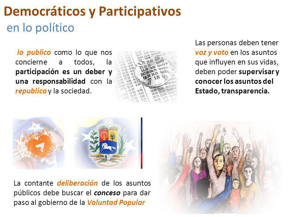 Democráticos y Participativos