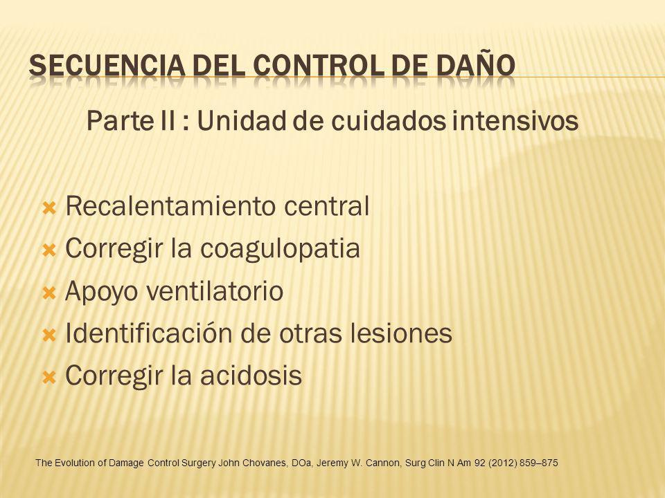 SECUENCIA DEL CONTROL DE DAÑO