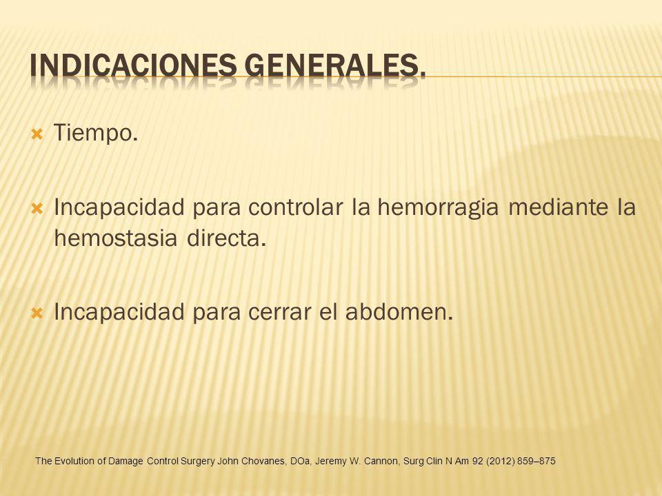 Indicaciones generales.