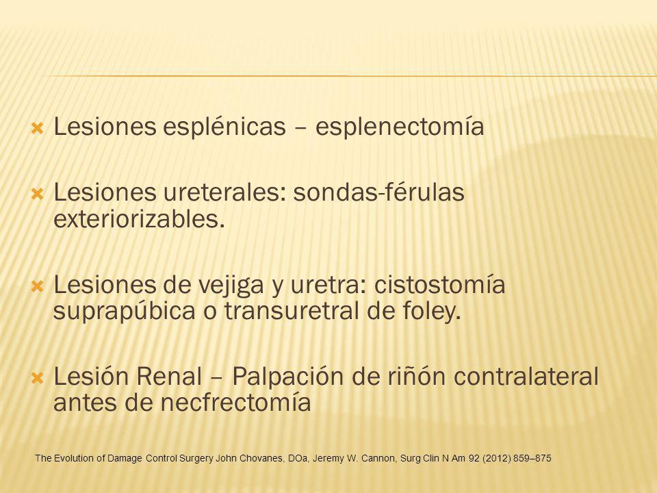 Lesiones esplénicas – esplenectomía