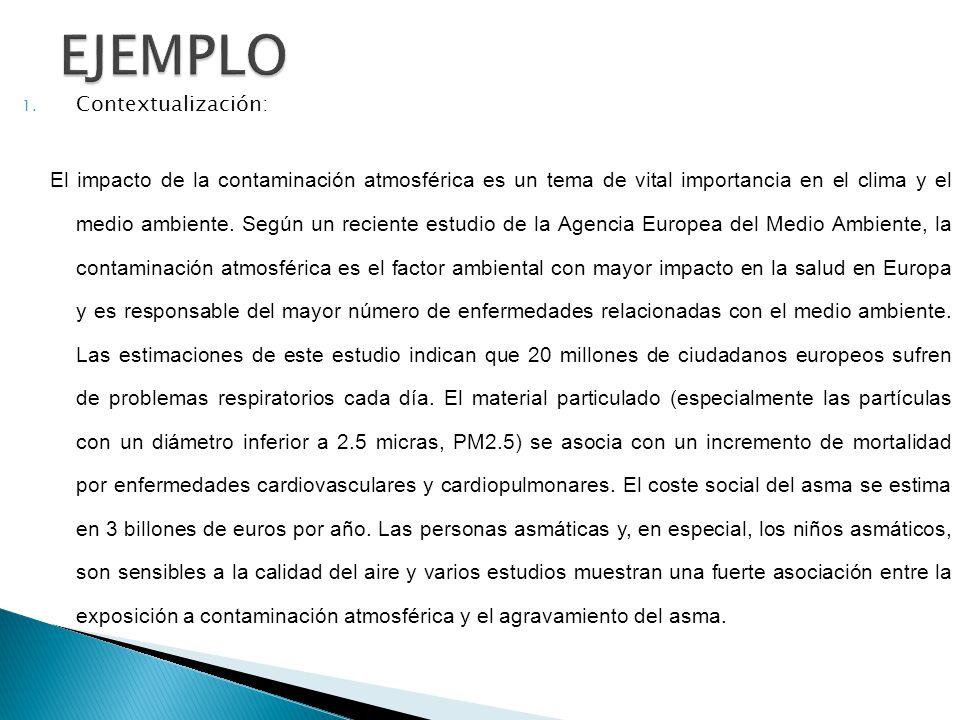 EJEMPLO Contextualización: