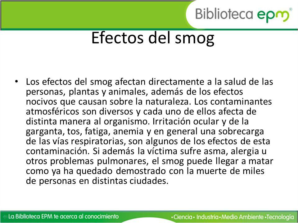 Efectos del smog