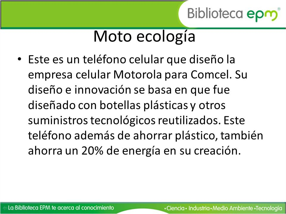 Moto ecología