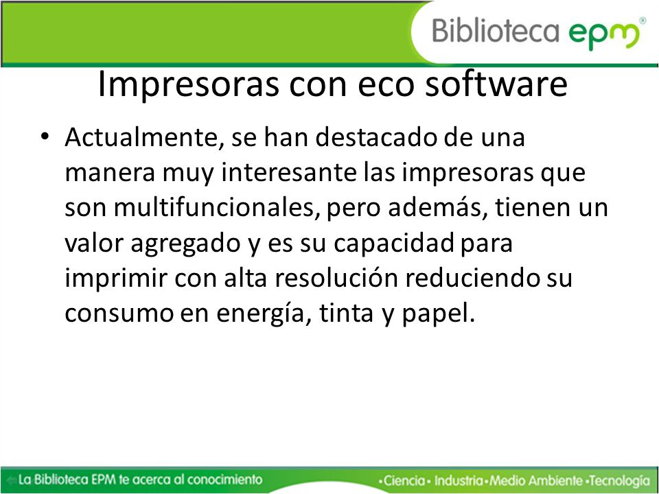Impresoras con eco software
