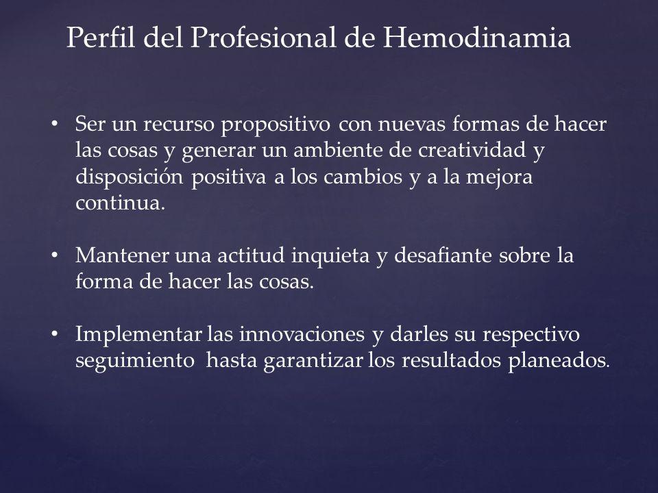 Perfil del Profesional de Hemodinamia