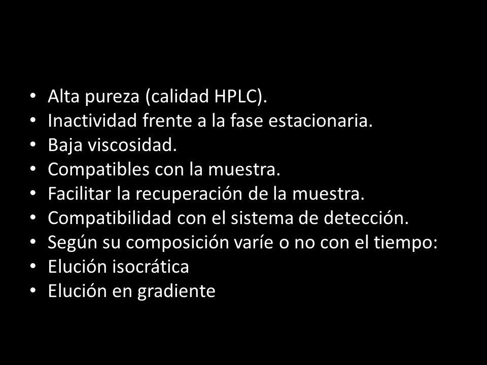 Alta pureza (calidad HPLC).