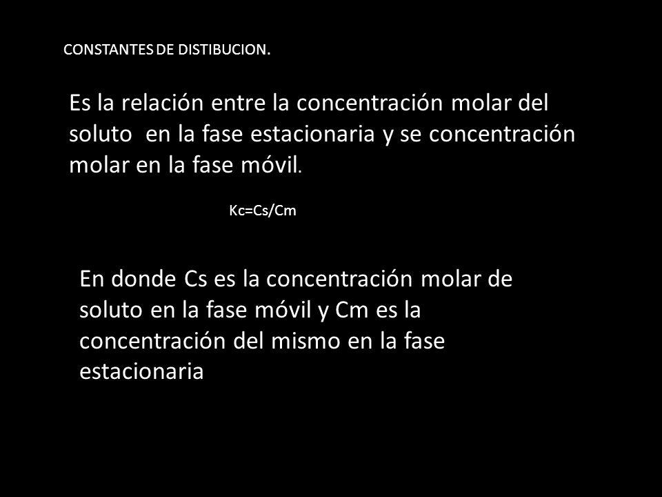 CONSTANTES DE DISTIBUCION.