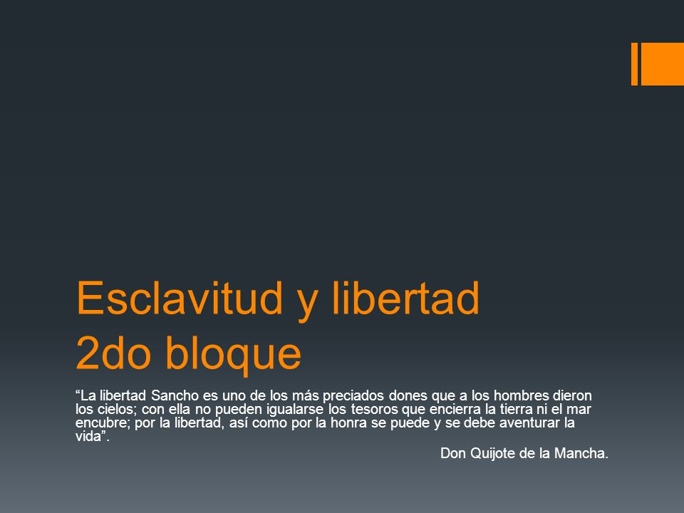 Esclavitud y libertad 2do bloque