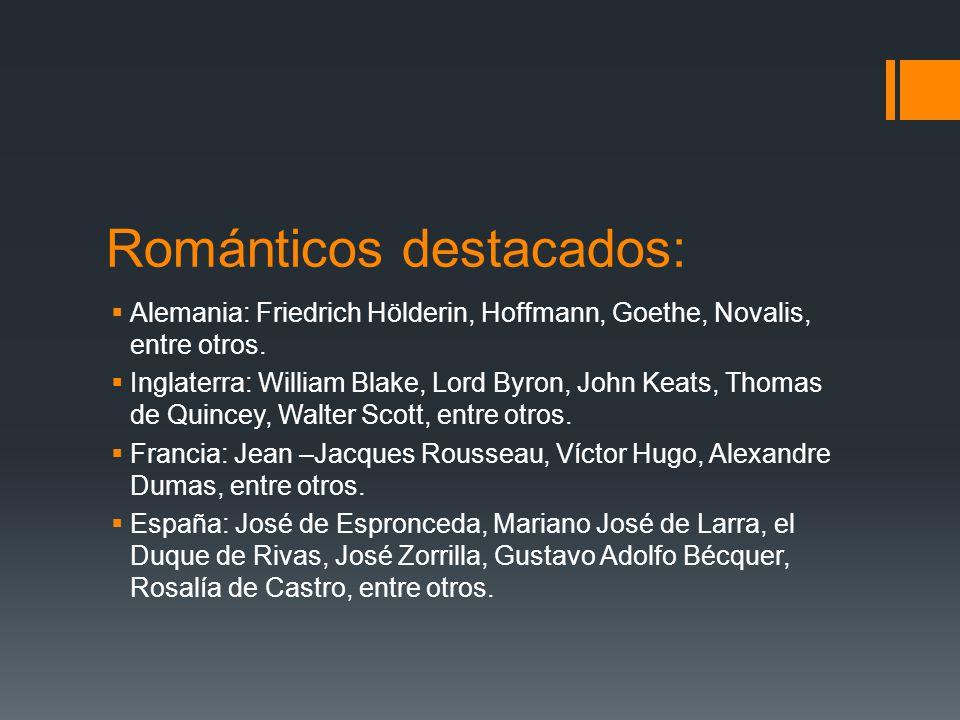 Románticos destacados: