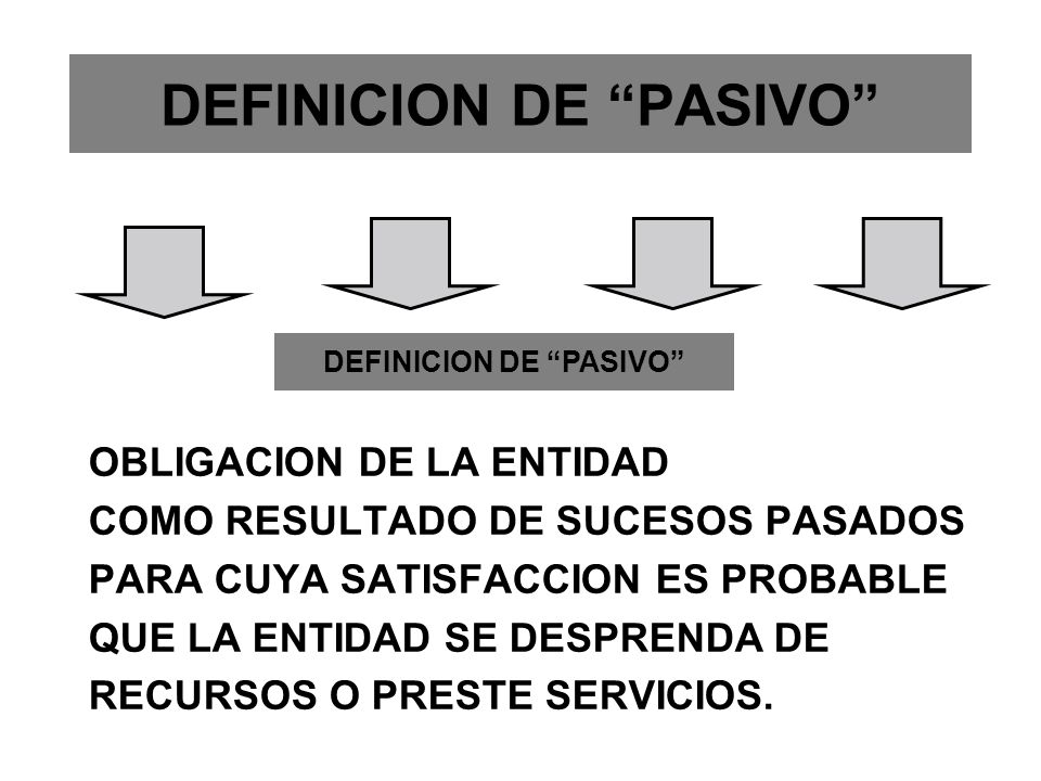 DEFINICION DE PASIVO