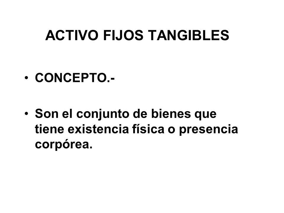 ACTIVO FIJOS TANGIBLES