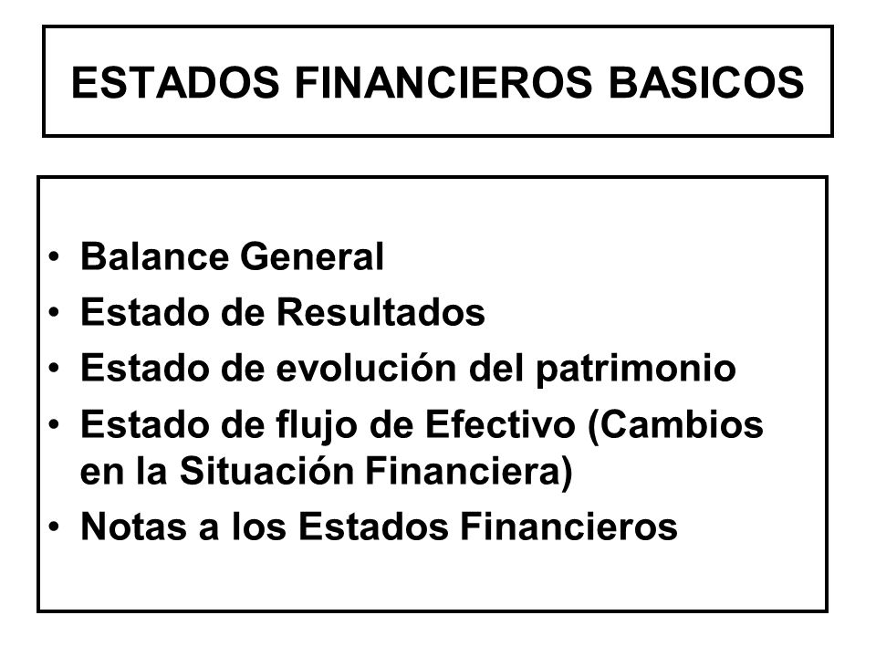 ESTADOS FINANCIEROS BASICOS