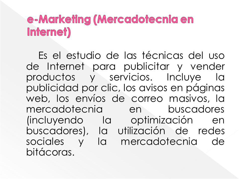e-Marketing (Mercadotecnia en Internet)