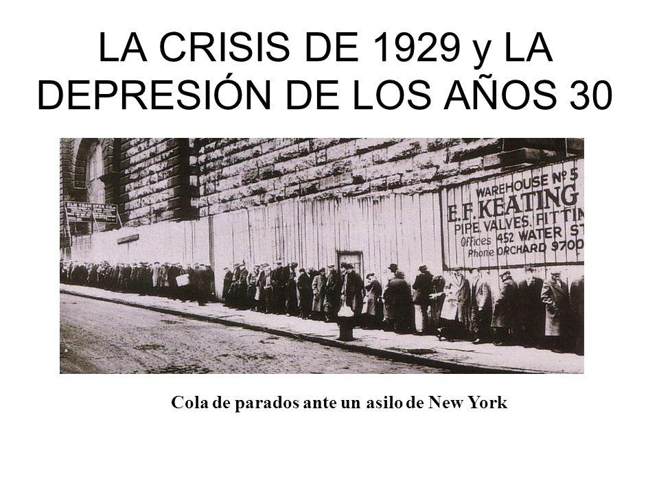 LA CRISIS DE 1929 y LA DEPRESIÓN DE LOS AÑOS 30