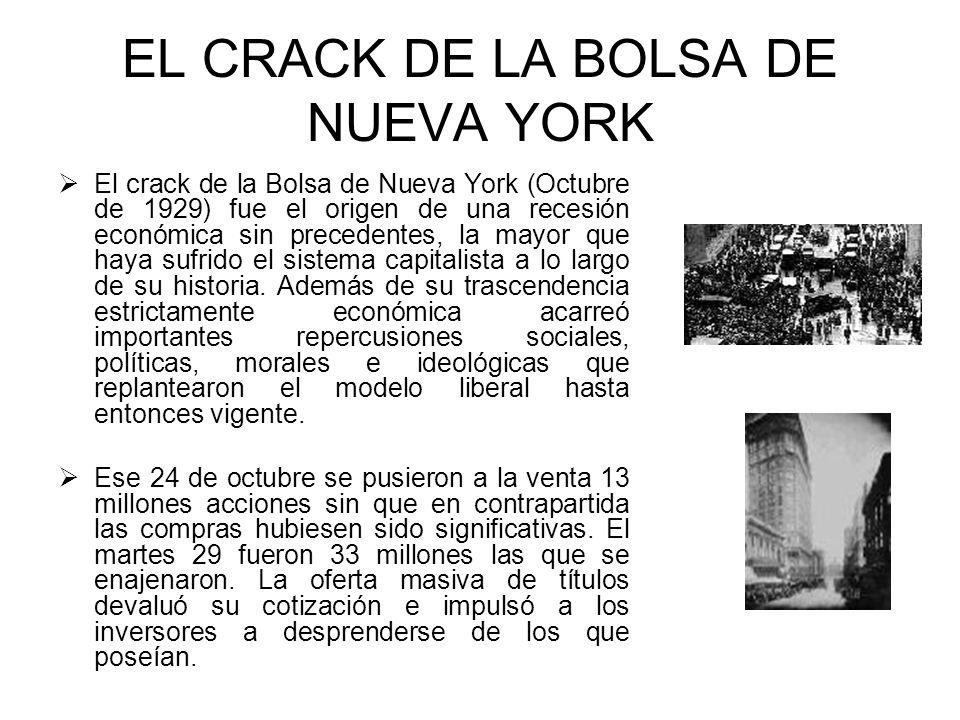 EL CRACK DE LA BOLSA DE NUEVA YORK