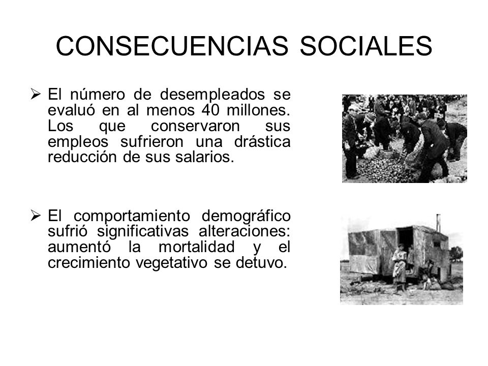 CONSECUENCIAS SOCIALES
