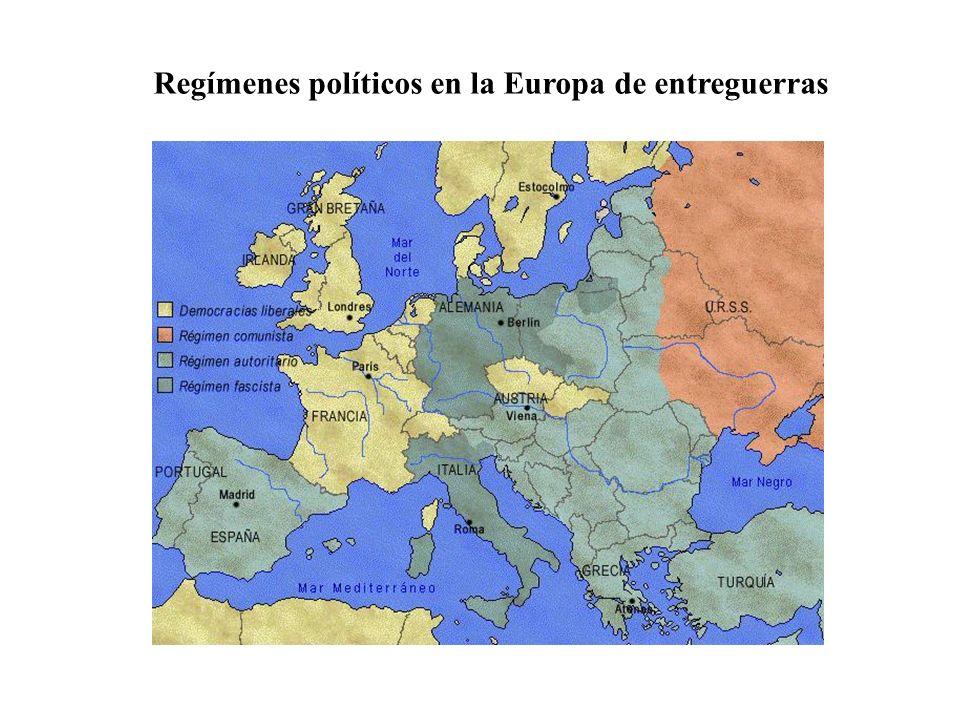 Regímenes políticos en la Europa de entreguerras