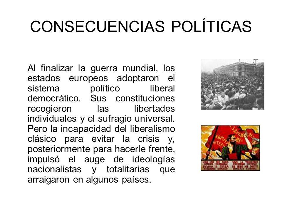 CONSECUENCIAS POLÍTICAS