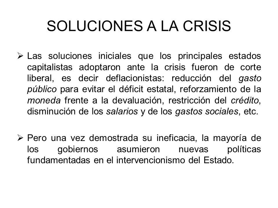SOLUCIONES A LA CRISIS