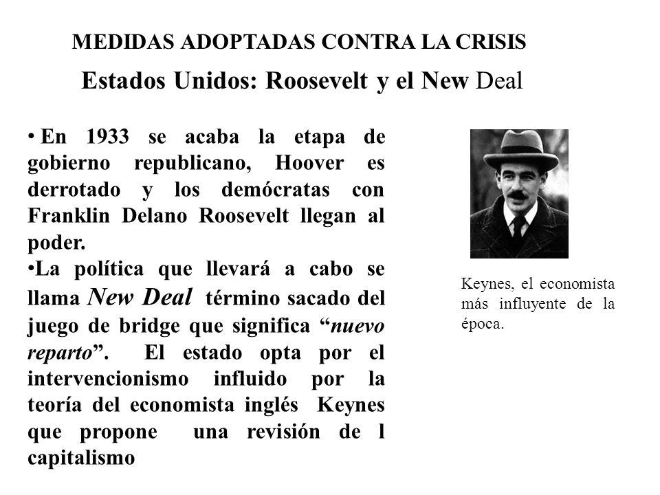 Estados Unidos: Roosevelt y el New Deal