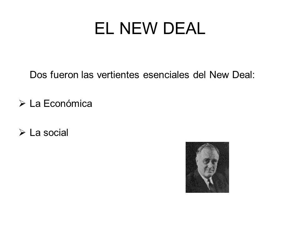 EL NEW DEAL Dos fueron las vertientes esenciales del New Deal: