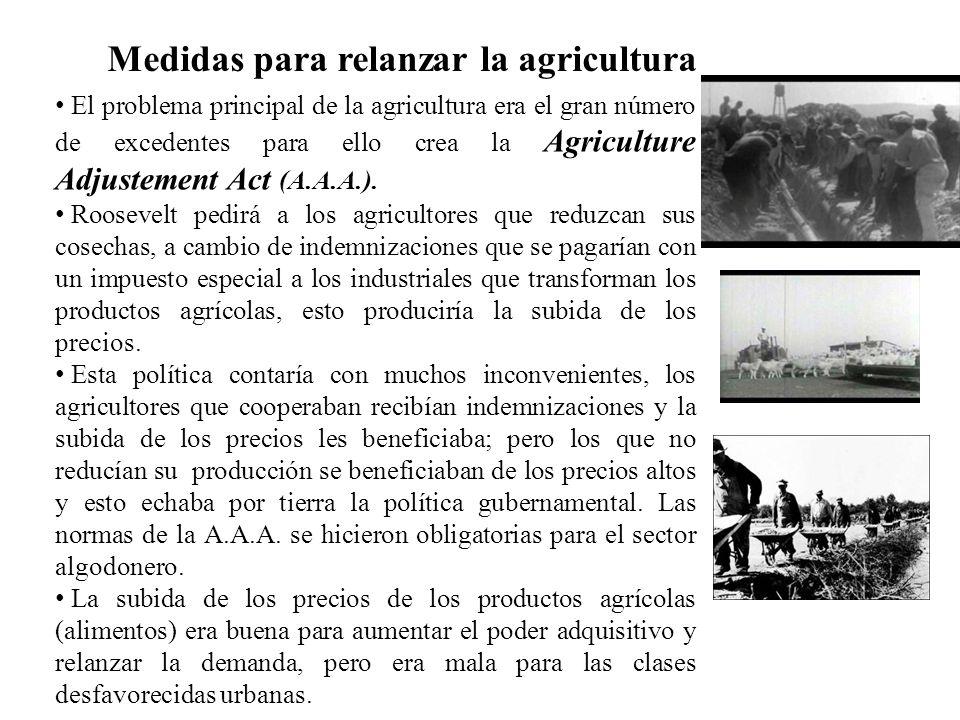 Medidas para relanzar la agricultura