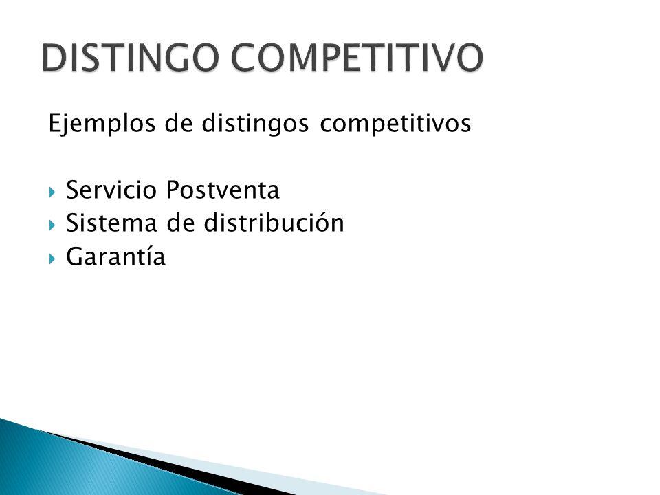 DISTINGO COMPETITIVO Ejemplos de distingos competitivos