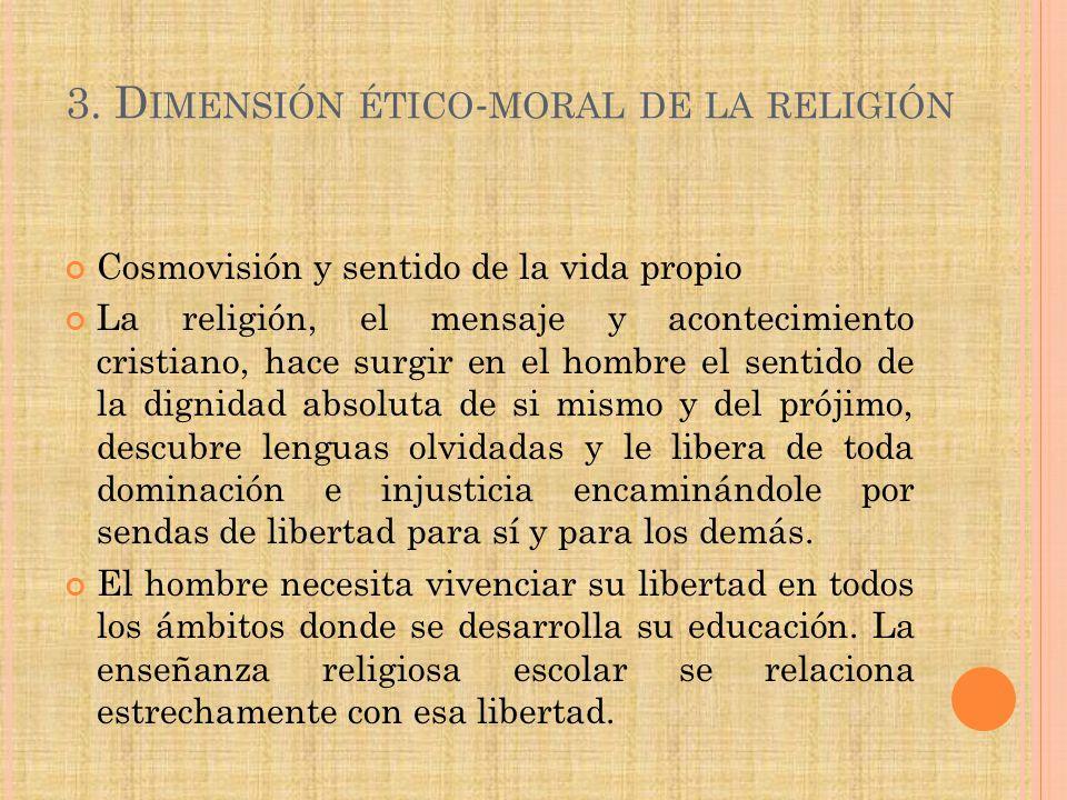 3. Dimensión ético-moral de la religión