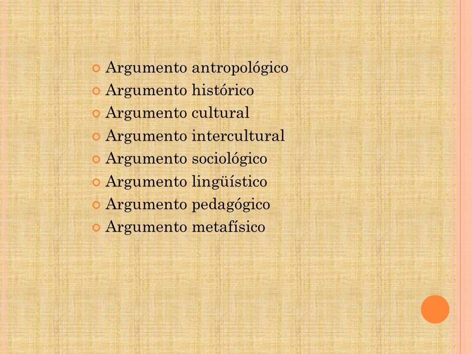 Argumento antropológico