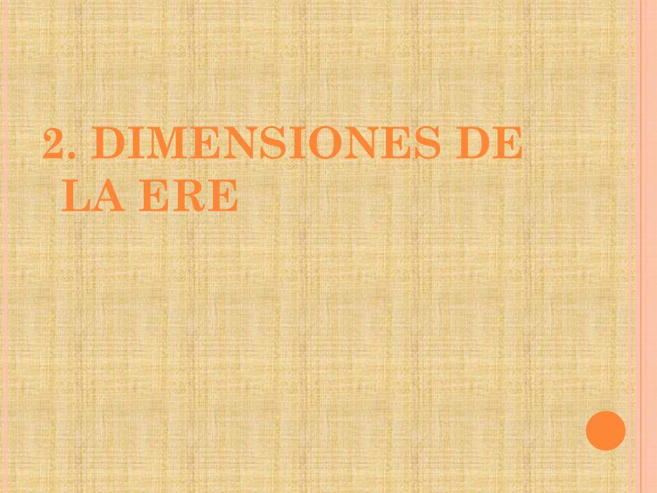2. DIMENSIONES DE LA ERE
