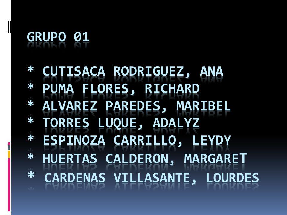 GRUPO 01. CUTISACA RODRIGUEZ, ANA. PUMA FLORES, RICHARD