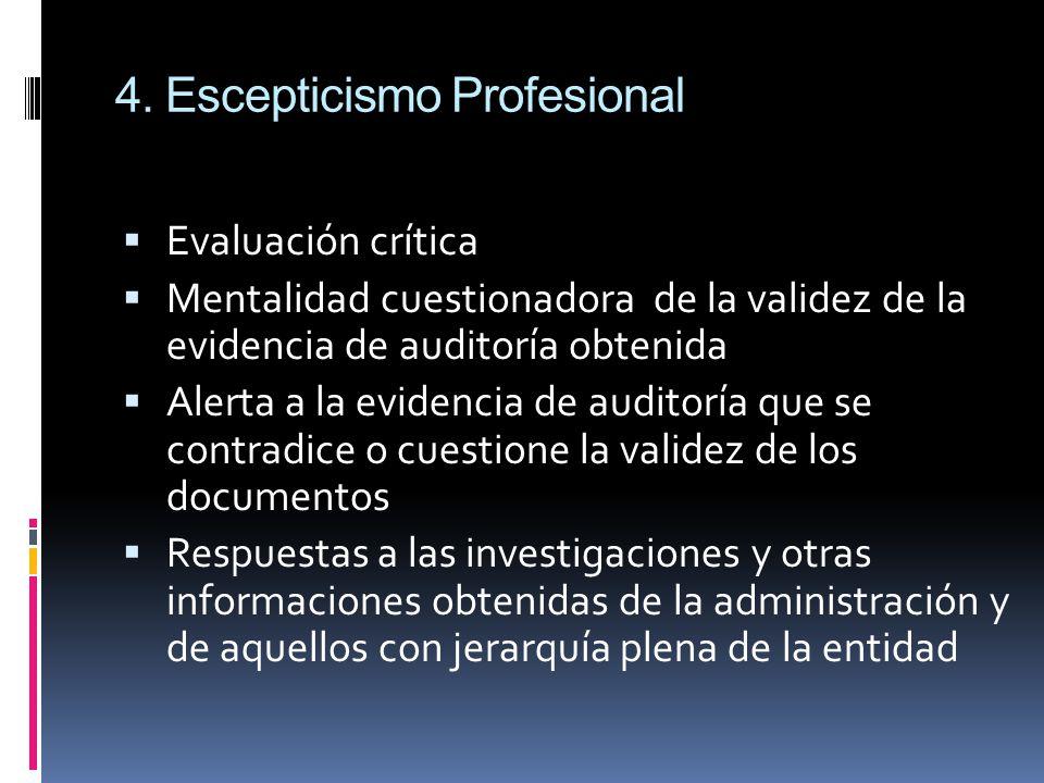 4. Escepticismo Profesional