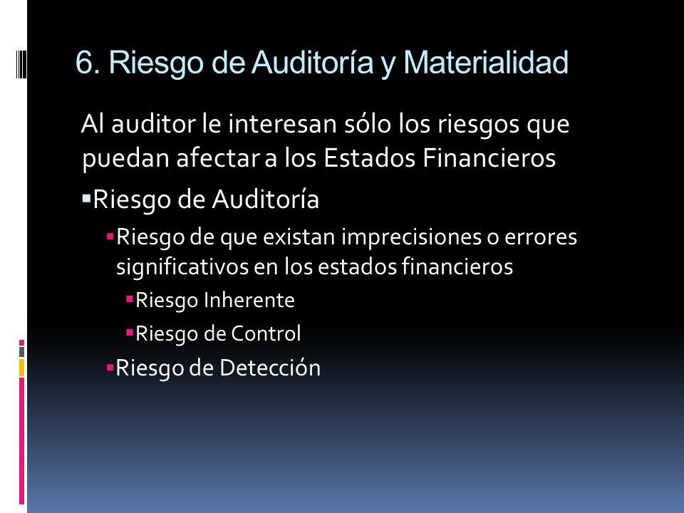 6. Riesgo de Auditoría y Materialidad