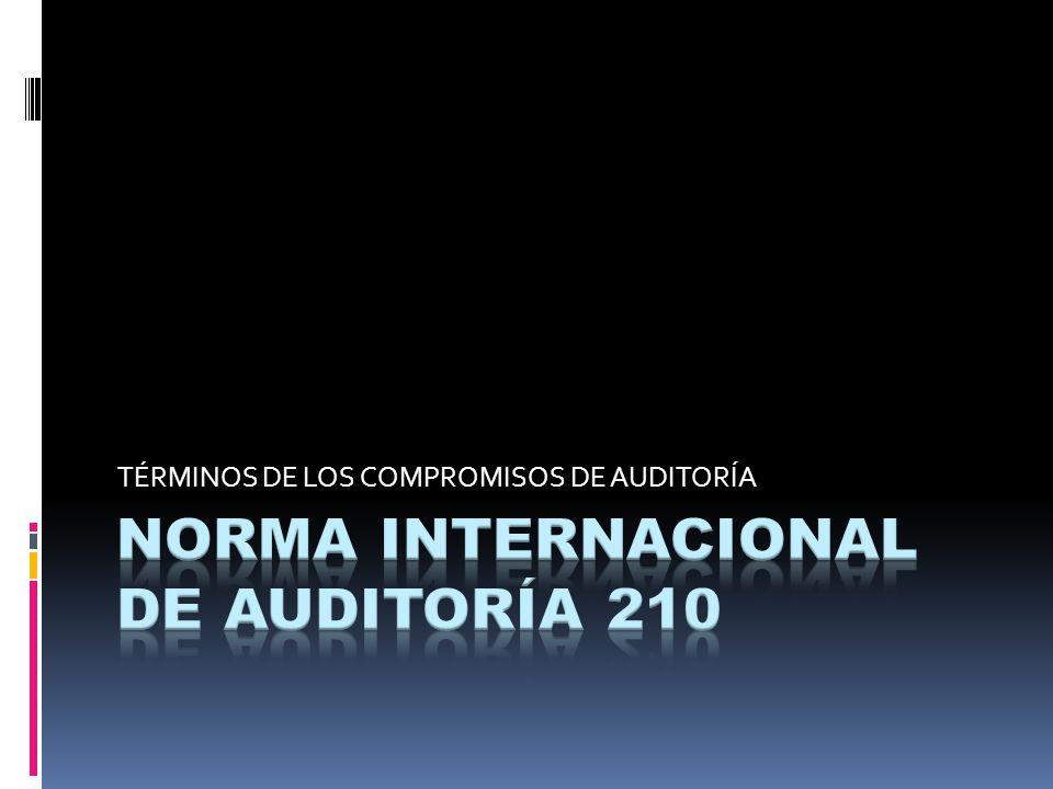NORMA INTERNACIONAL DE AUDITORÍA 210