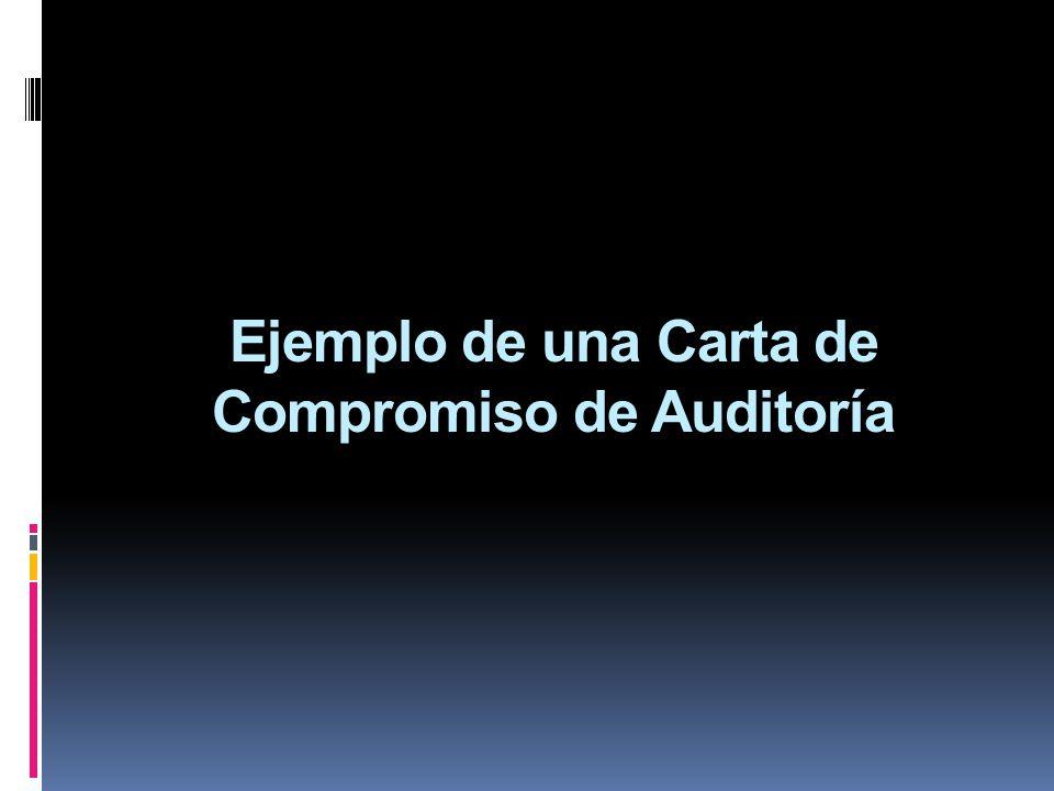 Ejemplo de una Carta de Compromiso de Auditoría