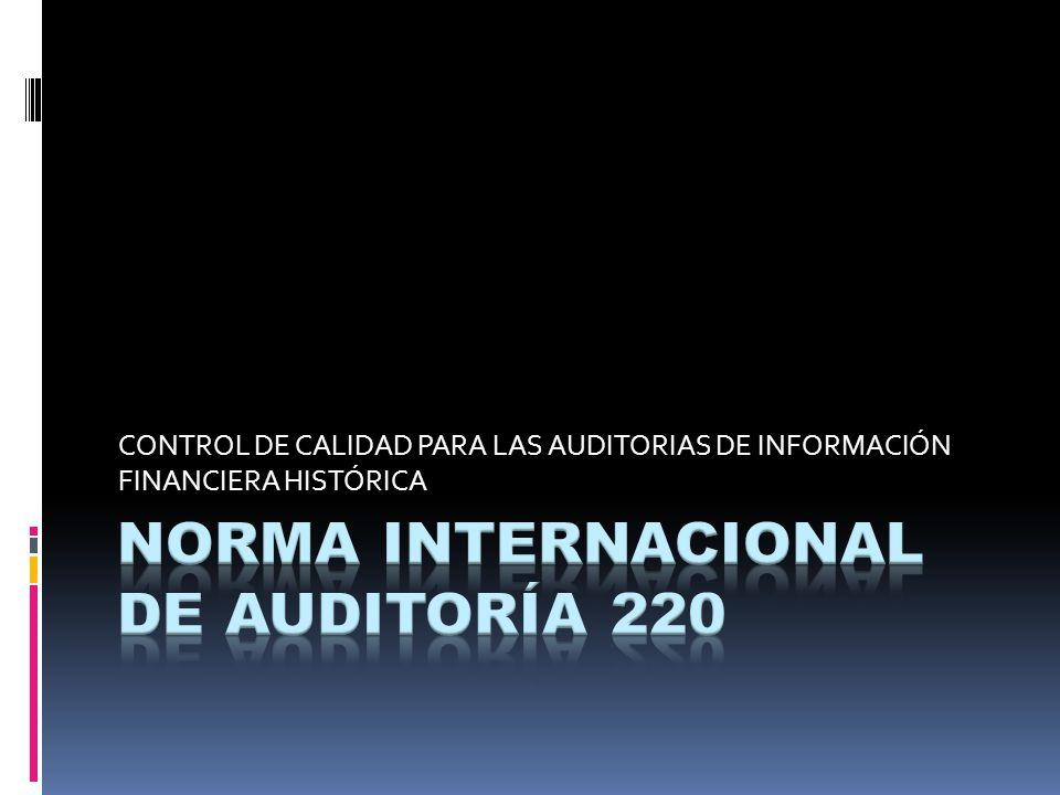 NORMA INTERNACIONAL DE AUDITORÍA 220