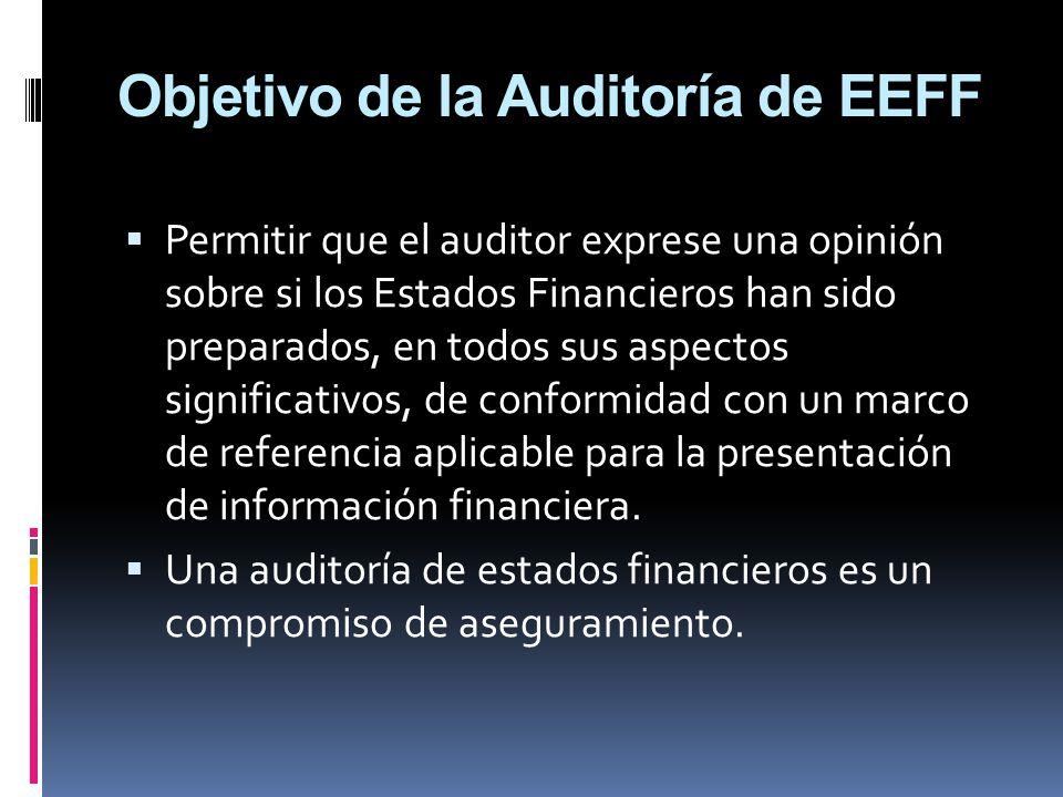 Objetivo de la Auditoría de EEFF