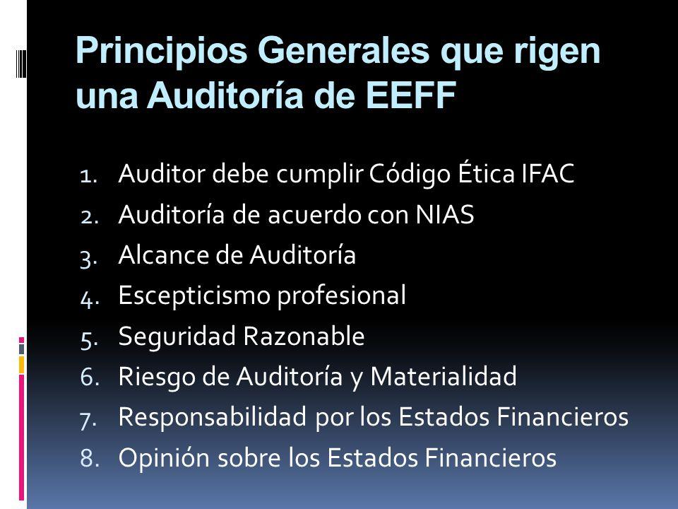 Principios Generales que rigen una Auditoría de EEFF