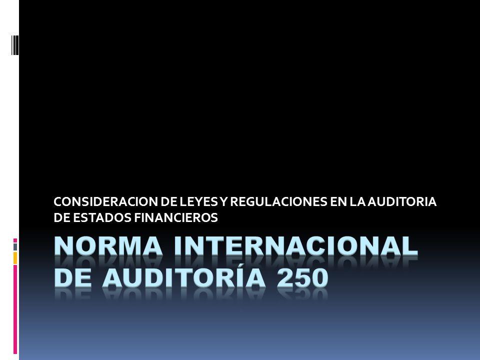 NORMA INTERNACIONAL DE AUDITORÍA 250