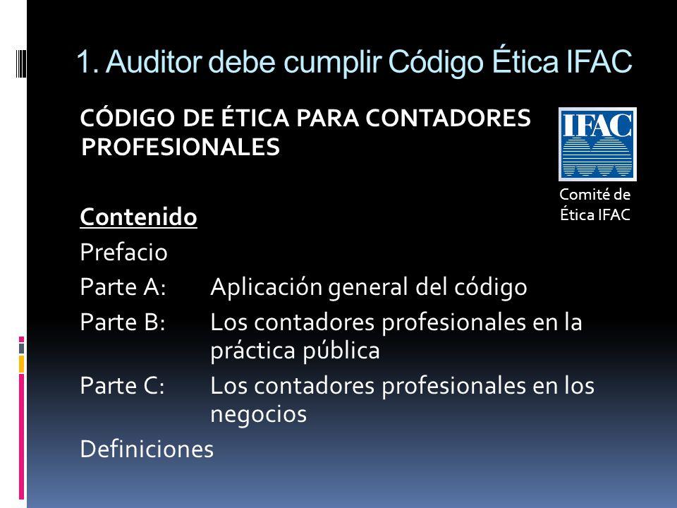 1. Auditor debe cumplir Código Ética IFAC