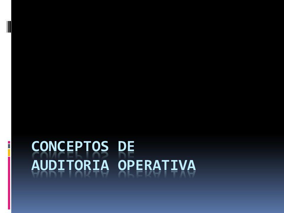 CONCEPTOS DE AUDITORIA OPERATIVA