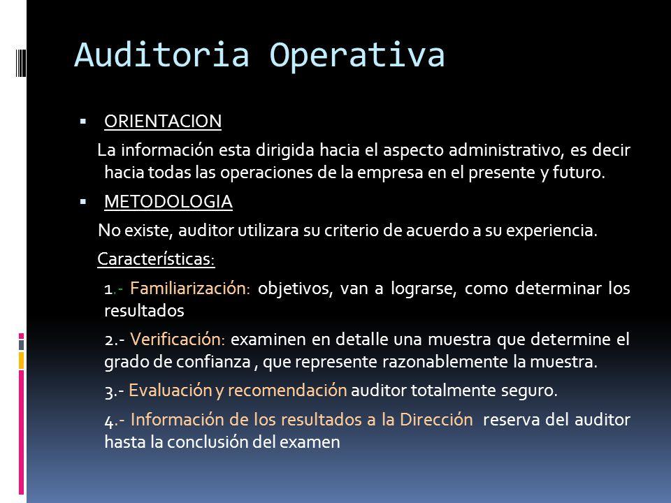Auditoria Operativa ORIENTACION