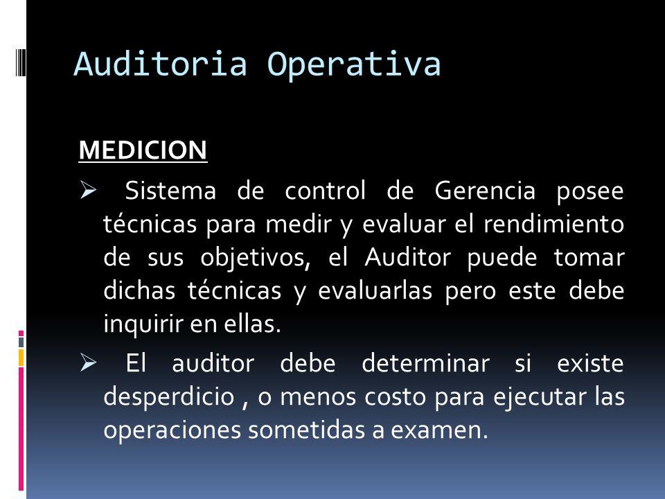 Auditoria Operativa MEDICION
