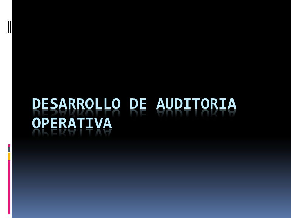 DESARROLLO DE AUDITORIA OPERATIVA