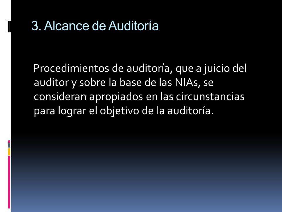 3. Alcance de Auditoría