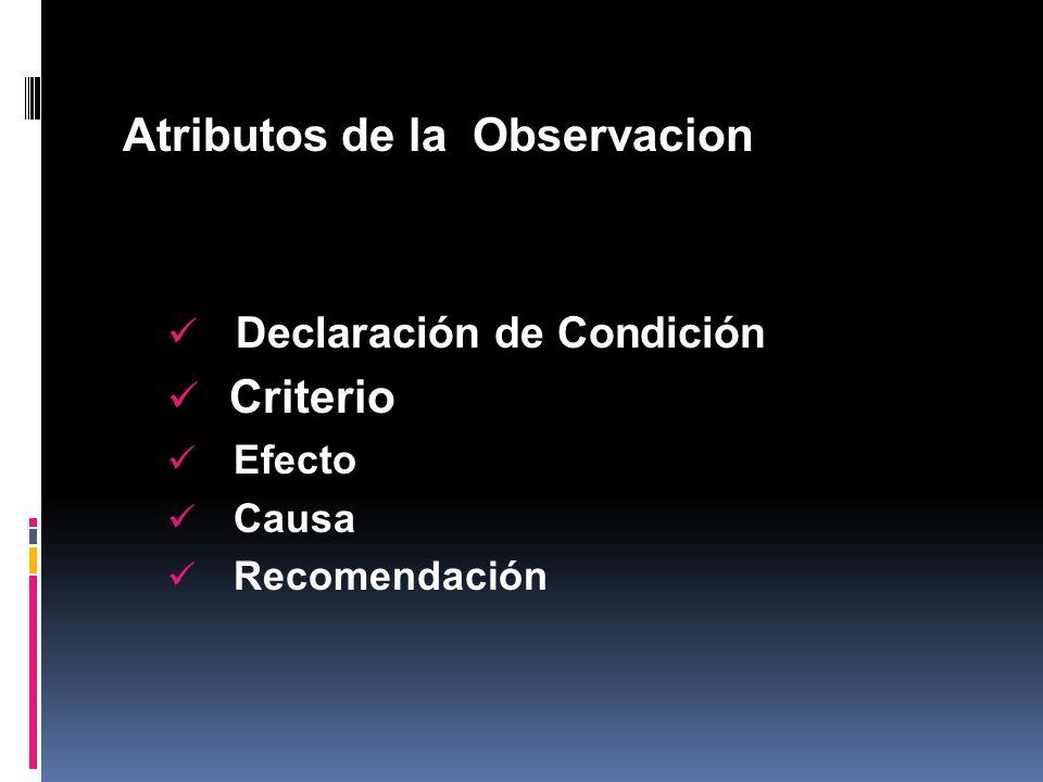 Atributos de la Observacion
