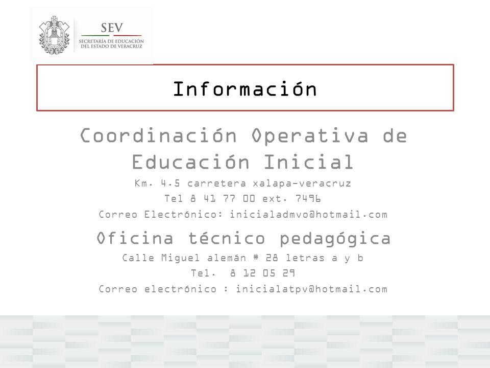 Coordinación Operativa de Educación Inicial